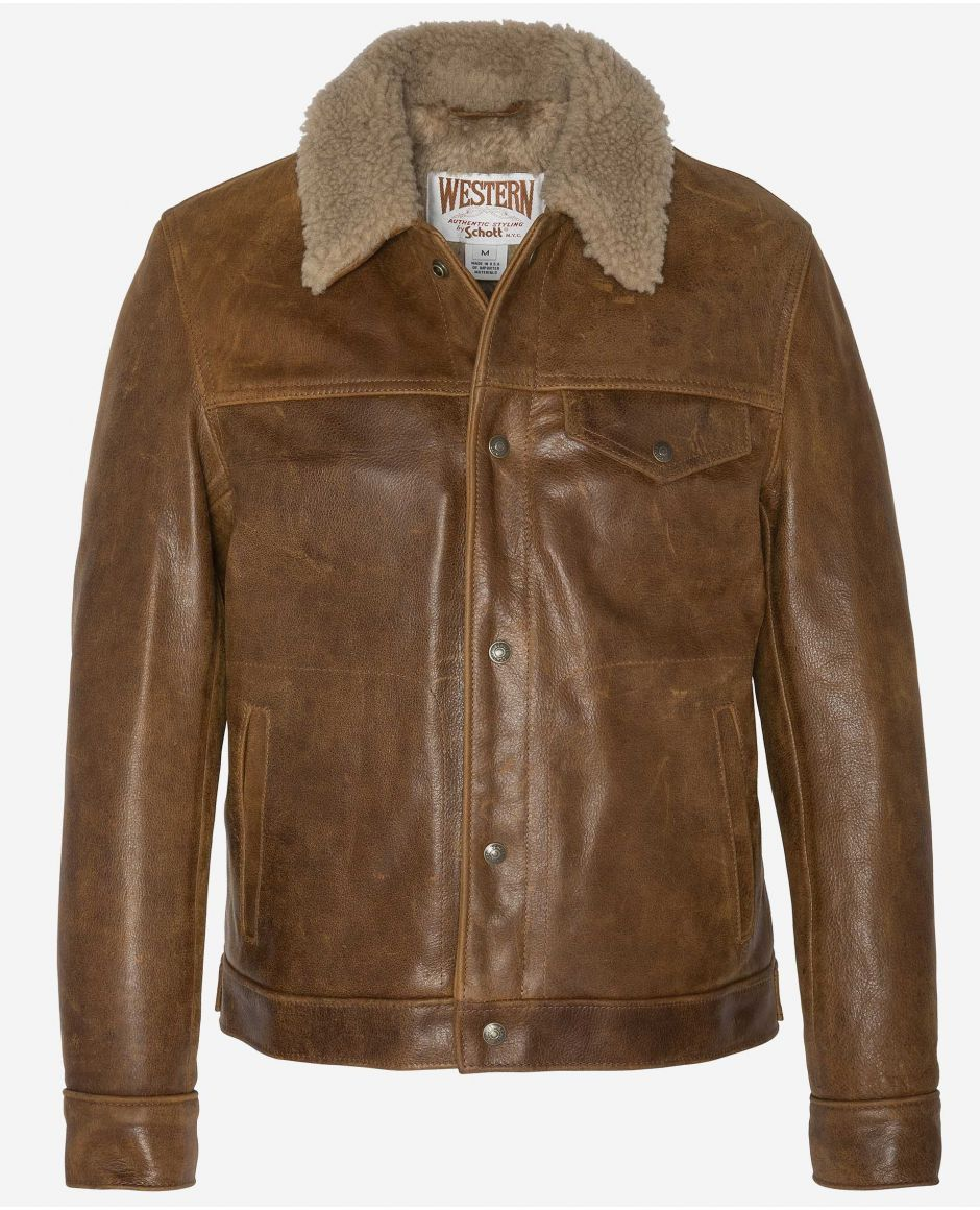 Trucker jacket with sheep collar, Mythical USA