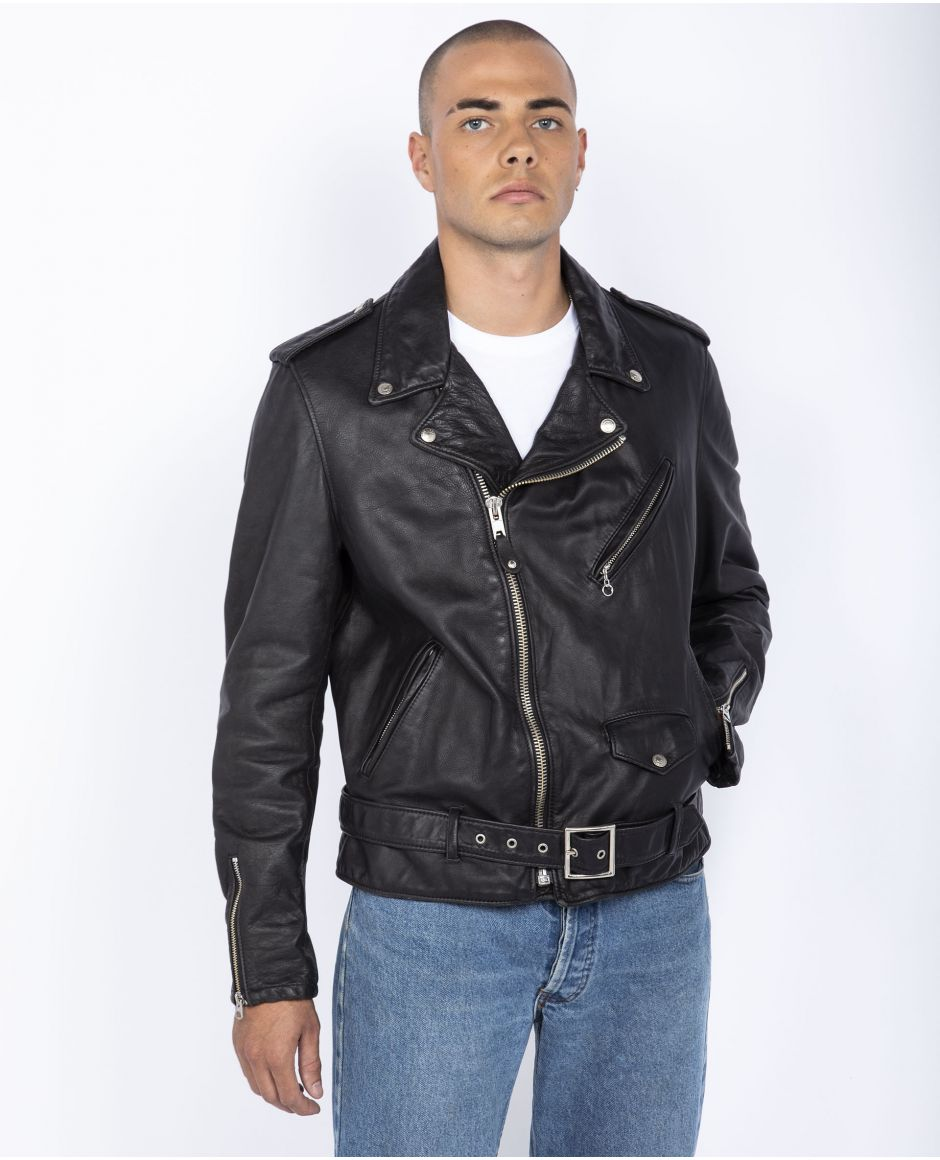 Iconic vintaged fitted motorcycle jacket