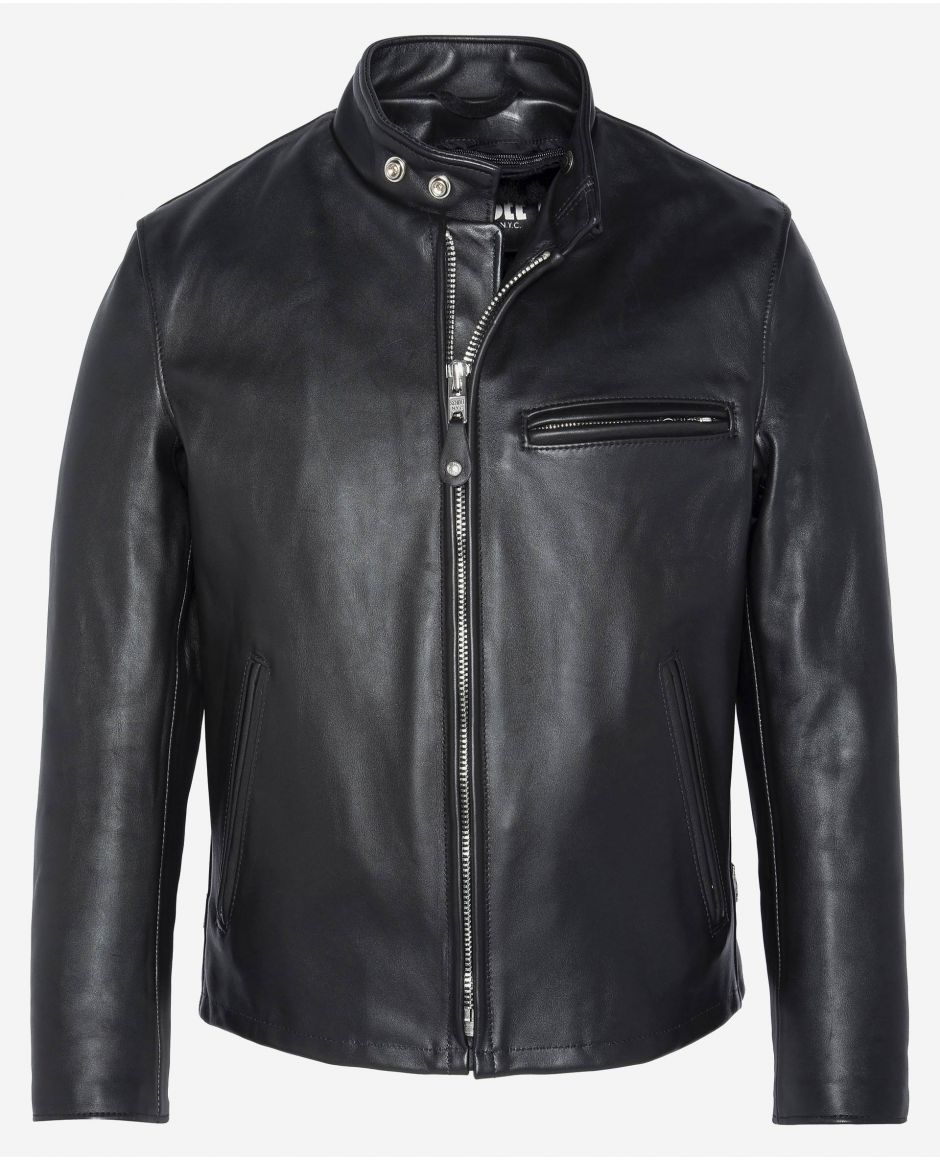 Single rider steerhide motorcycle jacket