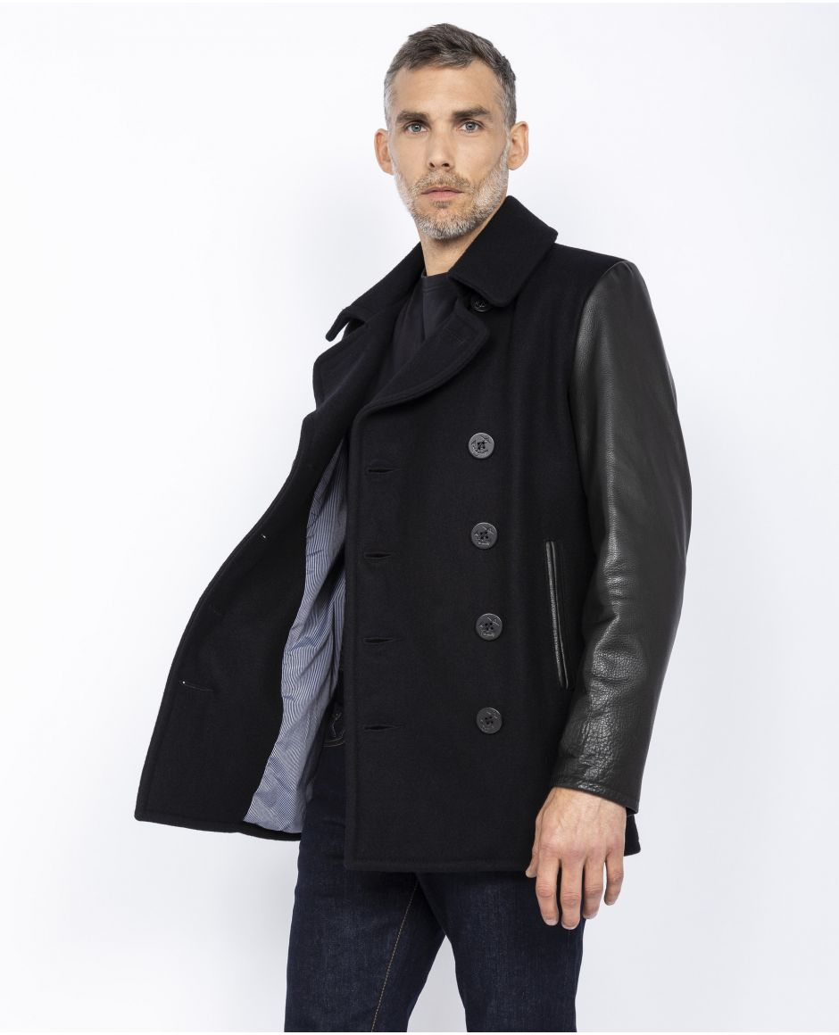 Iconic 2-material peacoat, Mythical USA
