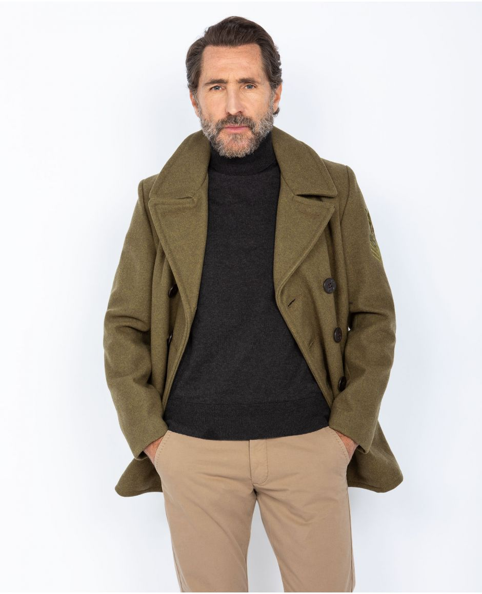 Peacoat with satin lining, Mythical USA