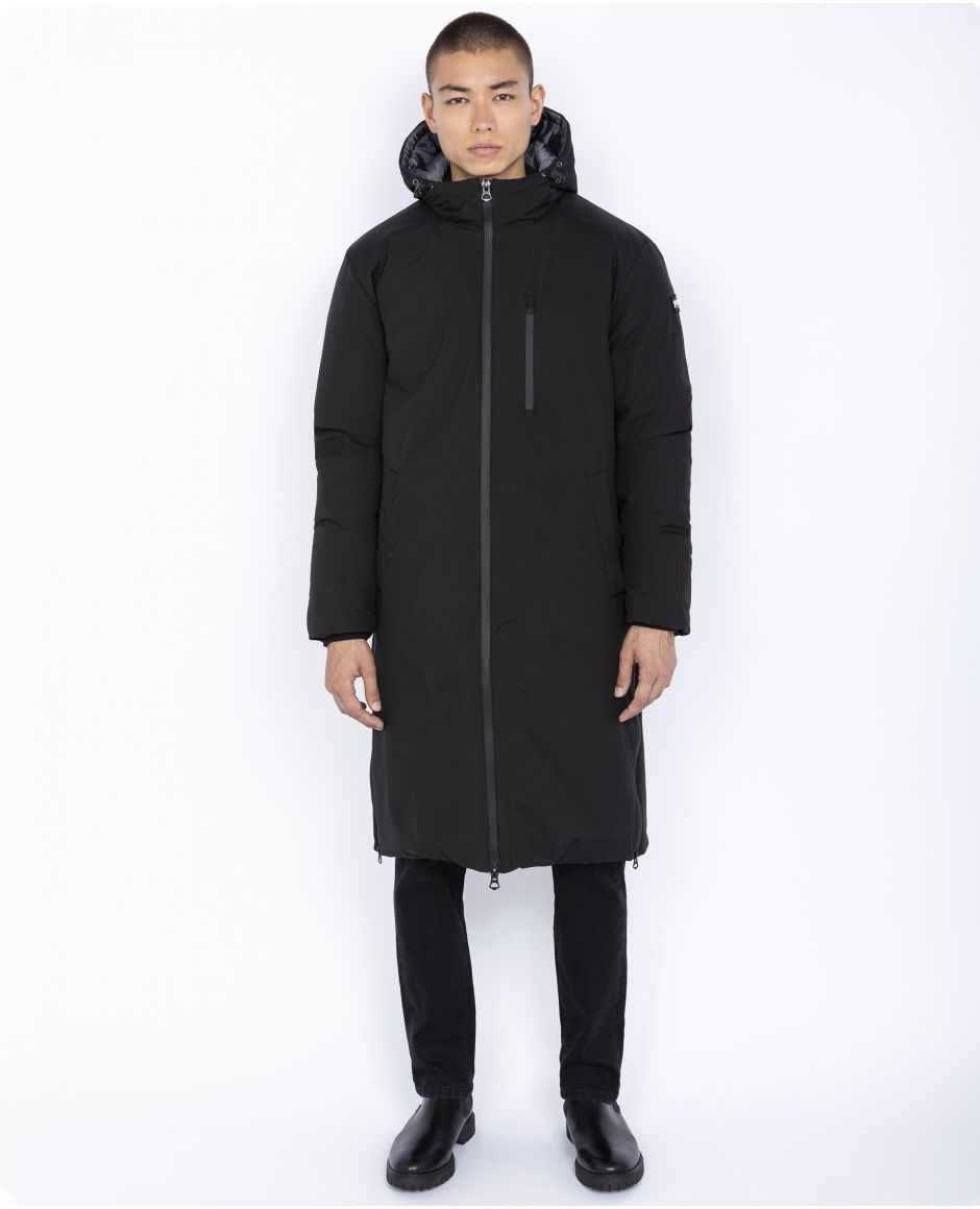 Extra long puffer jacket