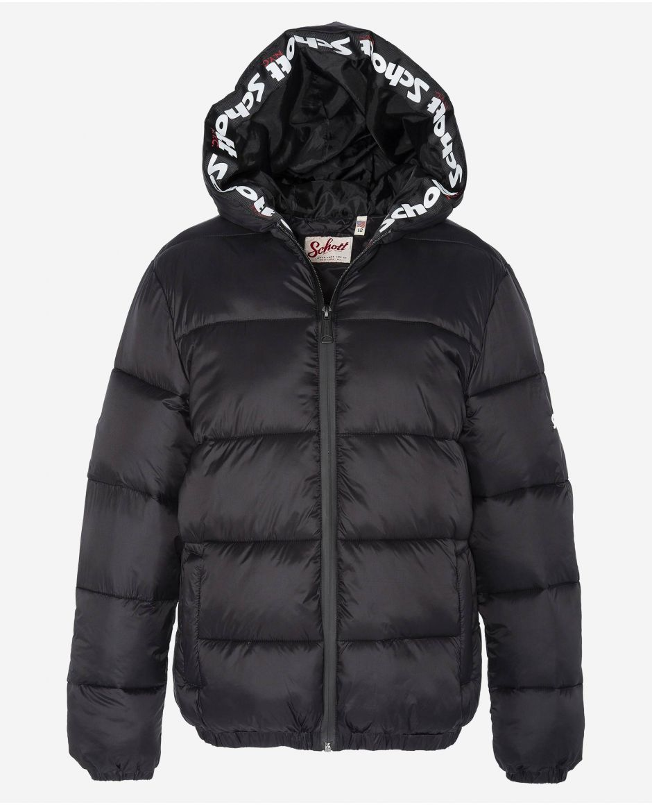 Puffer with fixed hood