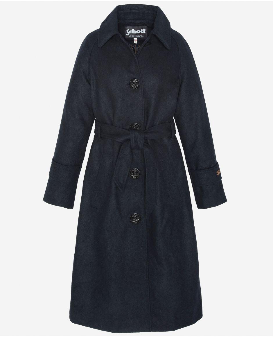 Belted long jacket