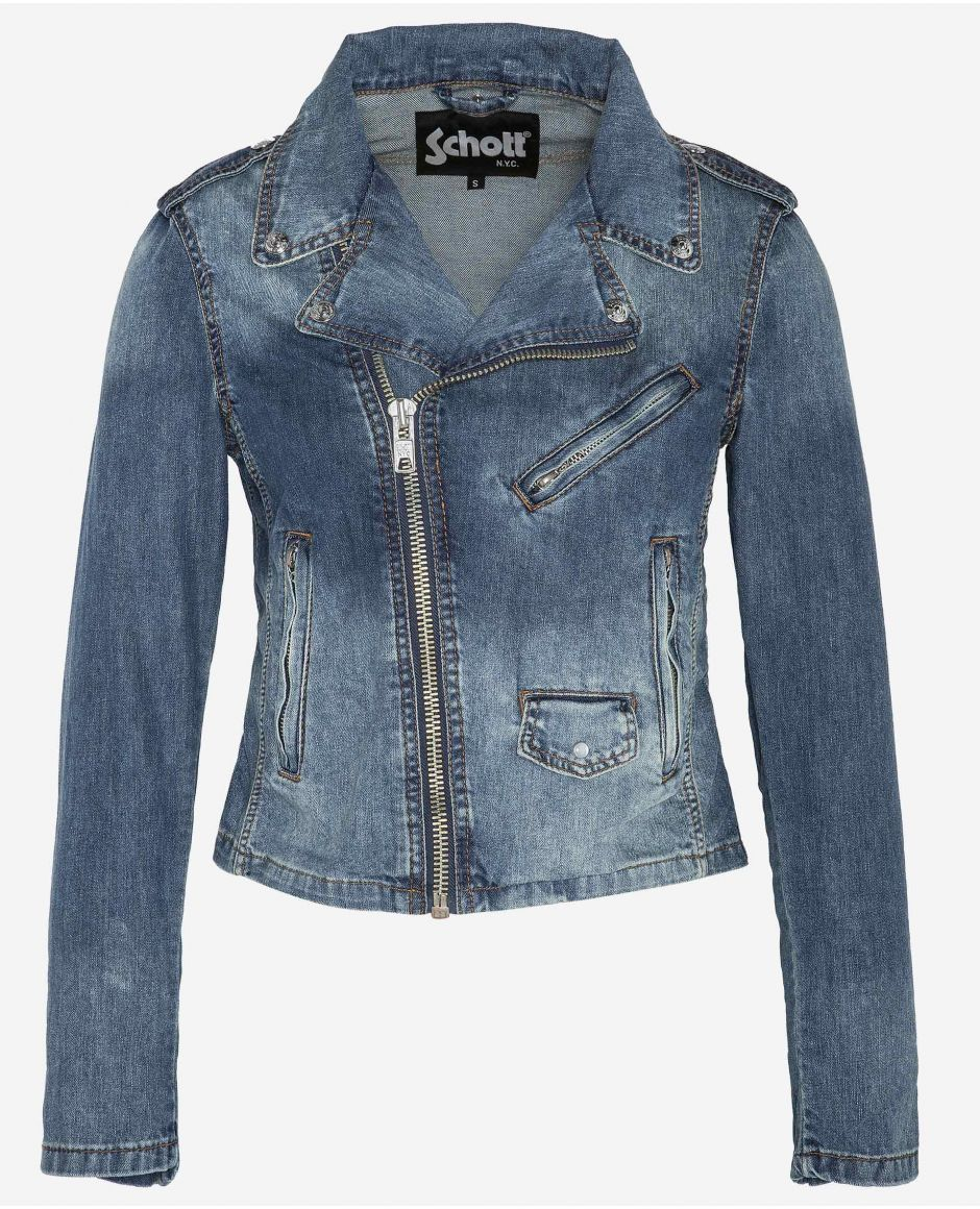 Fitted denim version of the Perfecto® jacket
