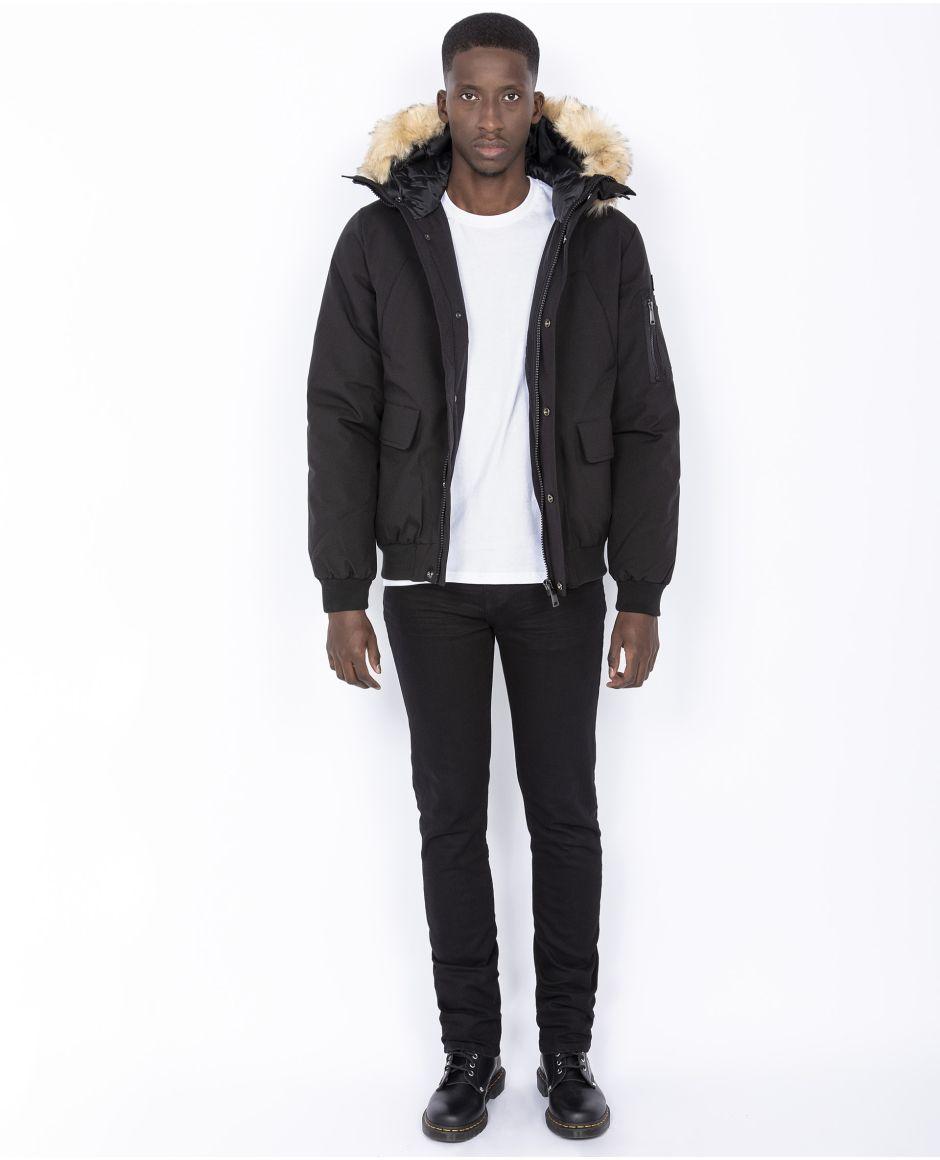 Hooded winter jacket