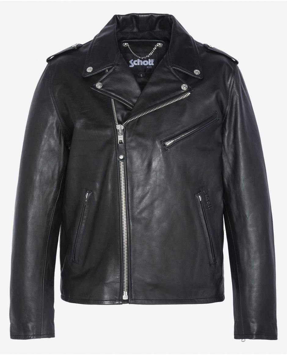 Fitted Perfecto® jacket, without belt, cuir de vachette