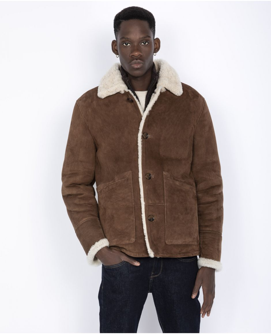 Western sueded sheepskin Rancher Jacket