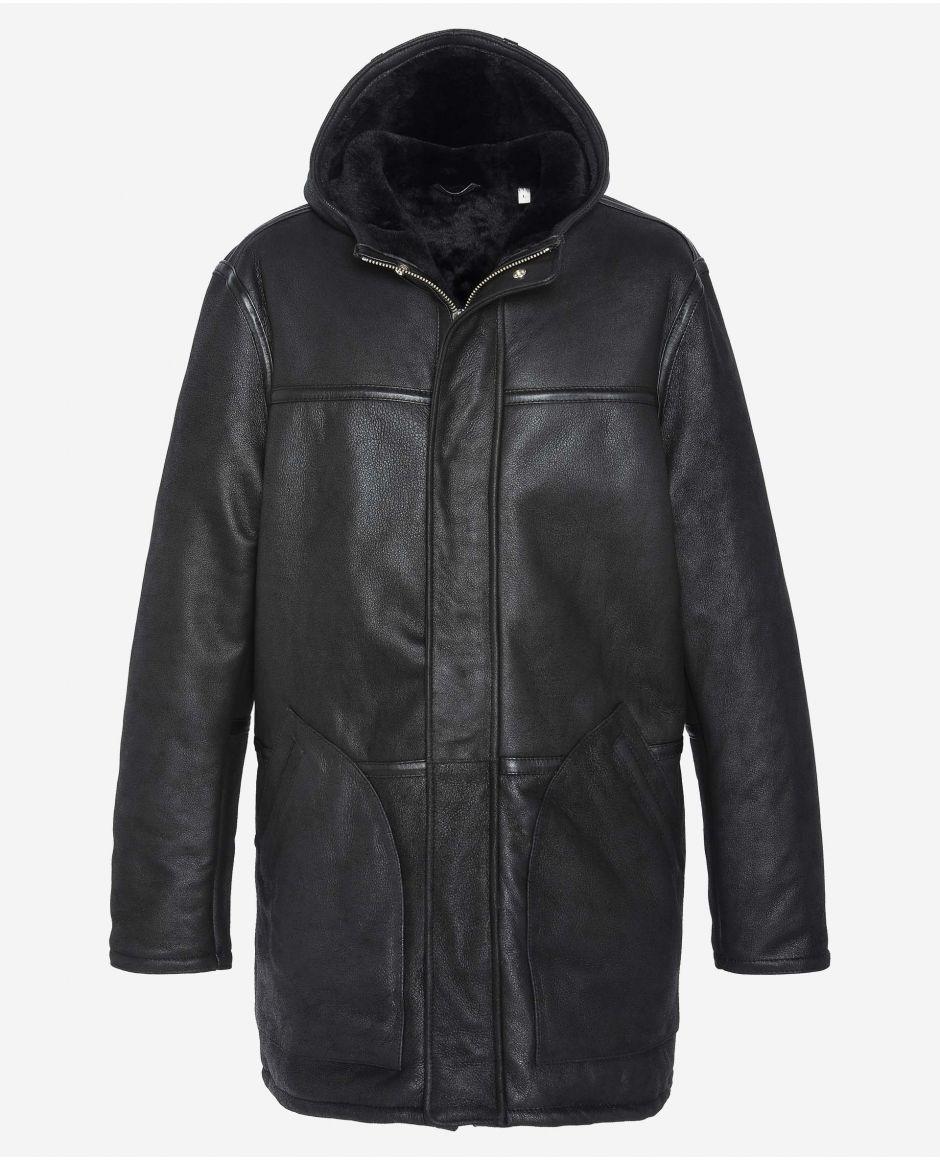 Manteau à capuche fixe