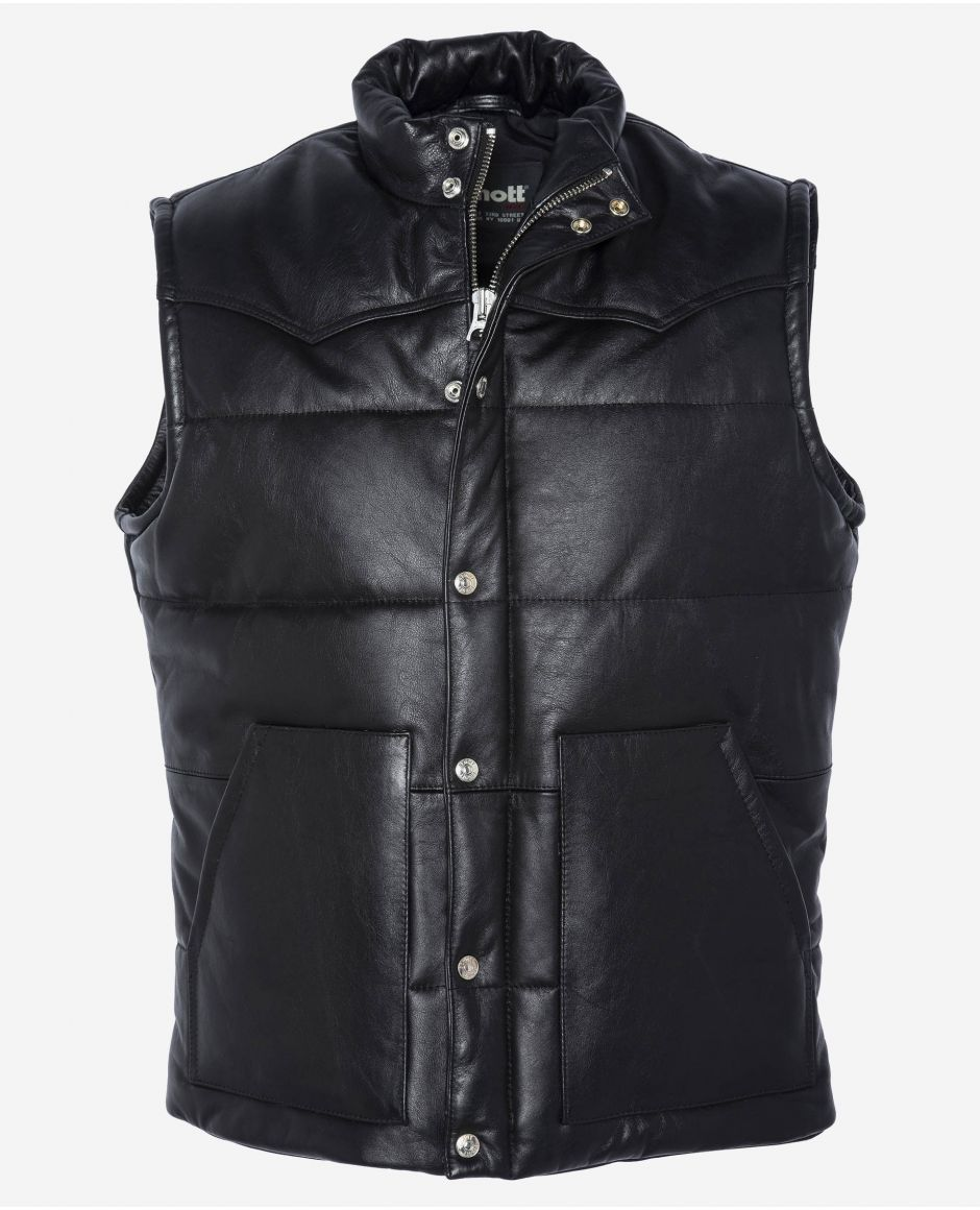 Sleeveless rancher puffer jacket