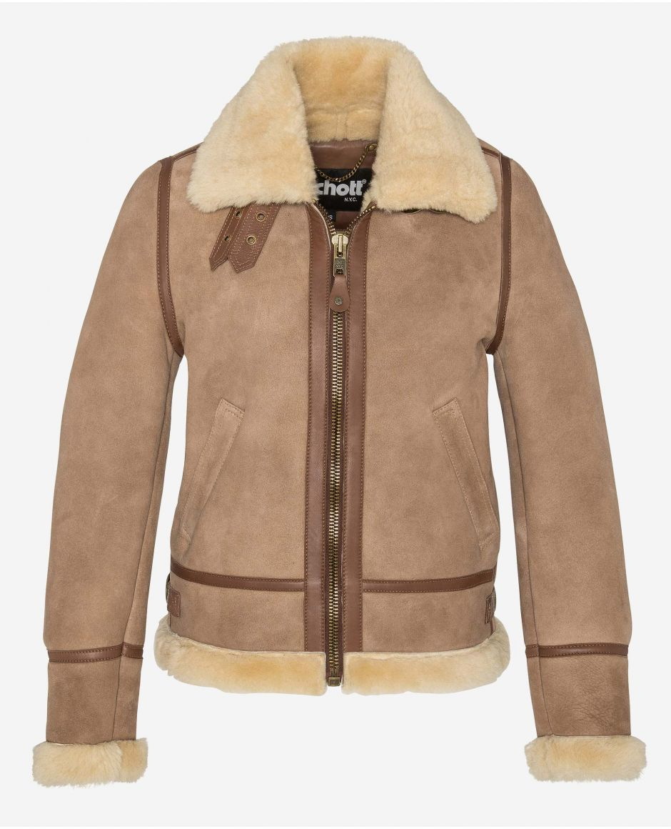 Bomber jacket type B-3, sueded sheepskin