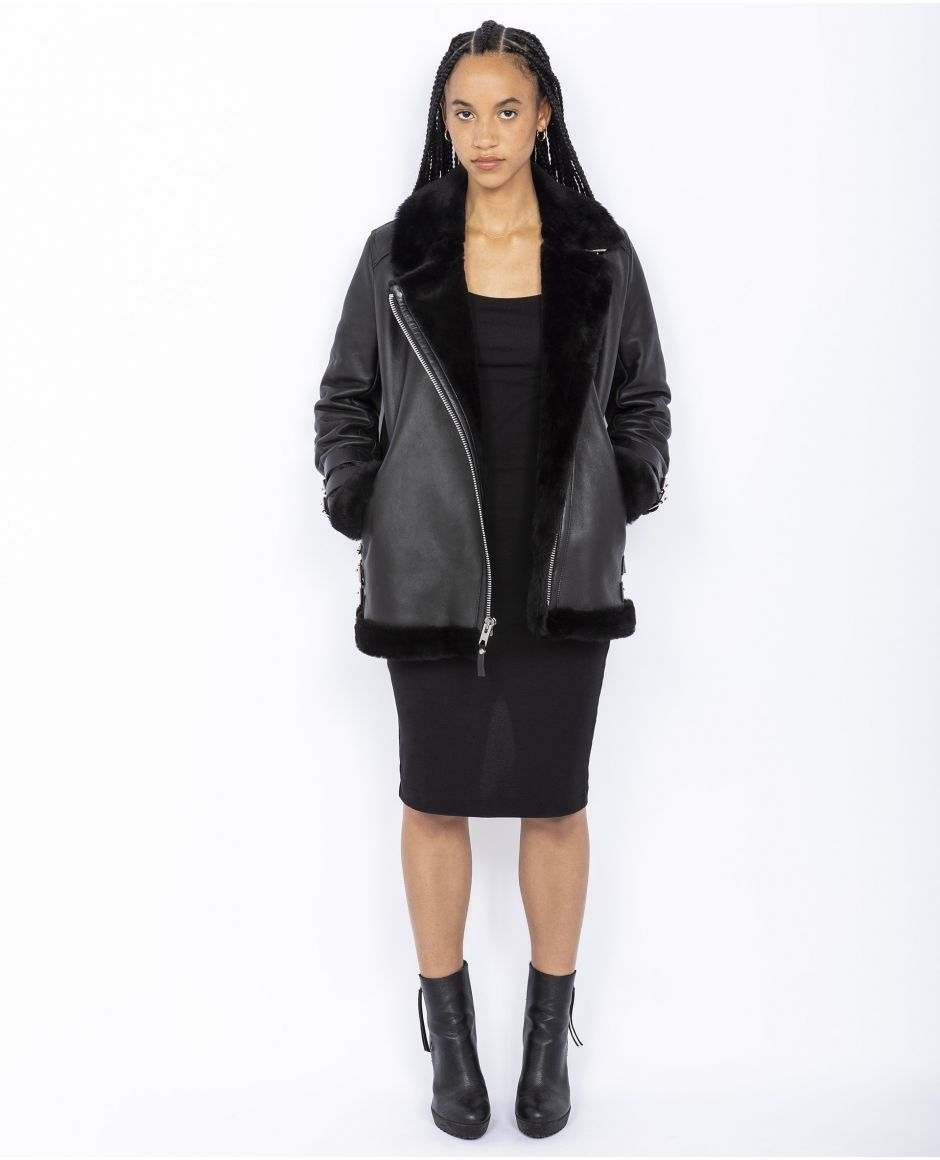 Sheepskin Perfecto inspired jacket