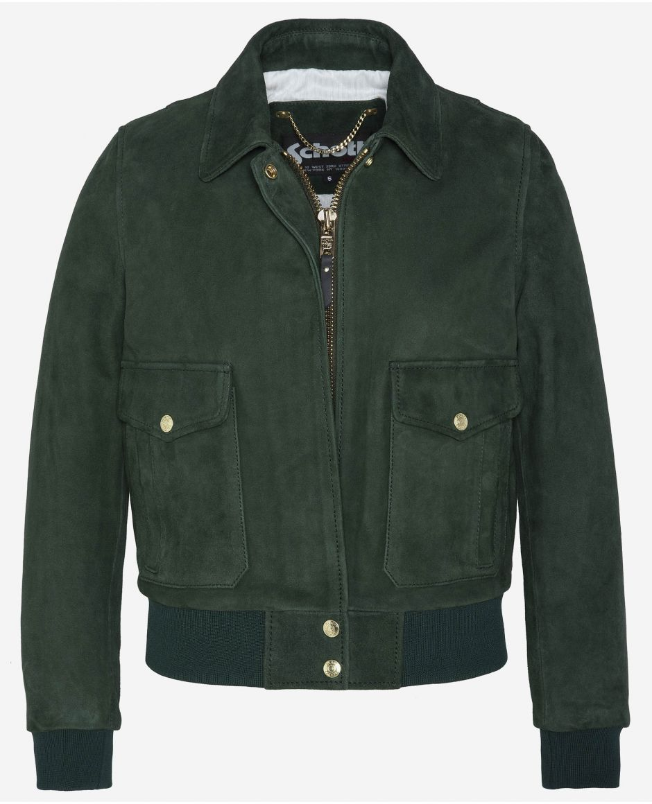 Suede leather coat