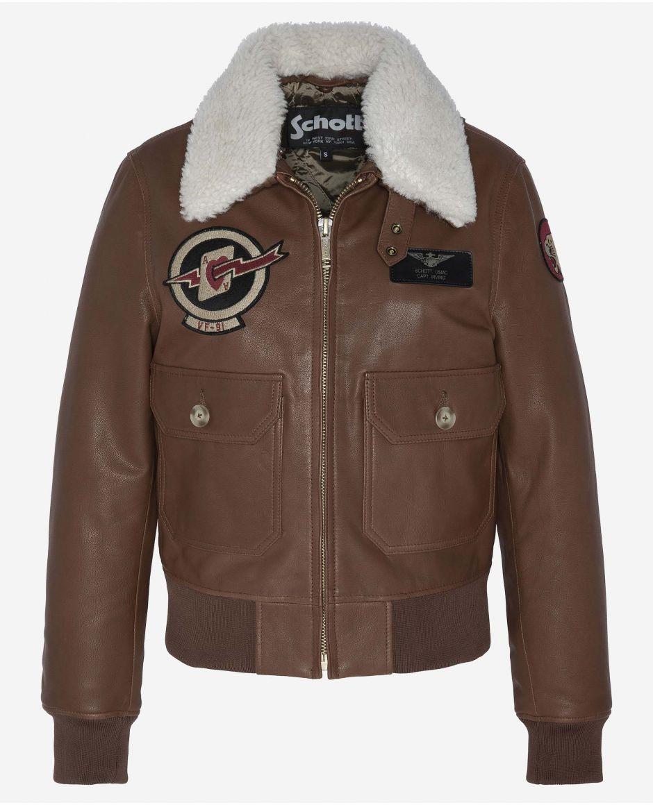 Badged G-1 flight jacket
