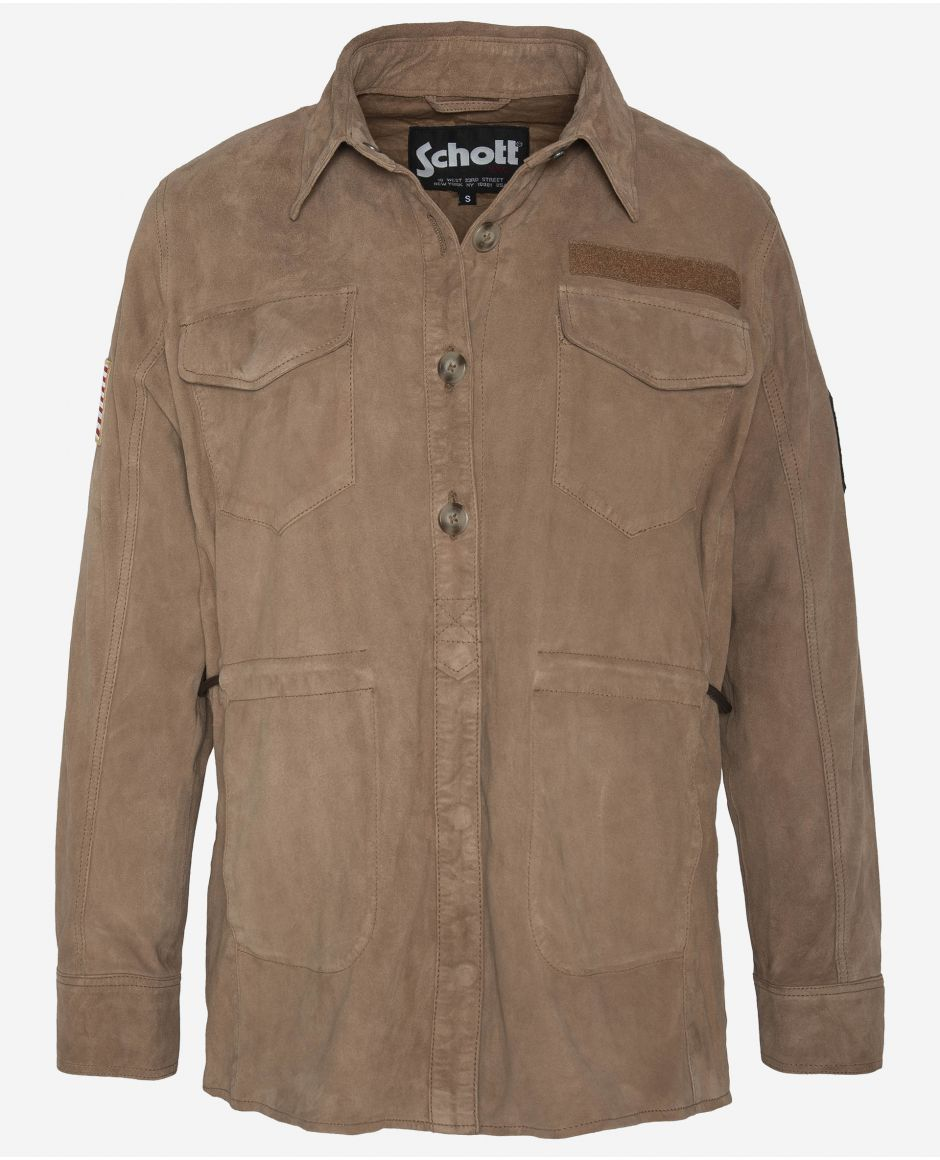Sueded Army overshirt
