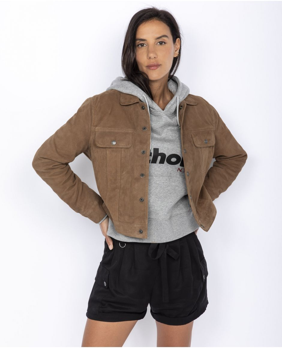 Sueded Trucker jacket