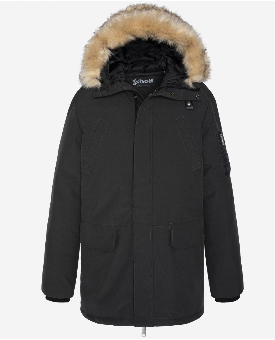 Hooded winter parka