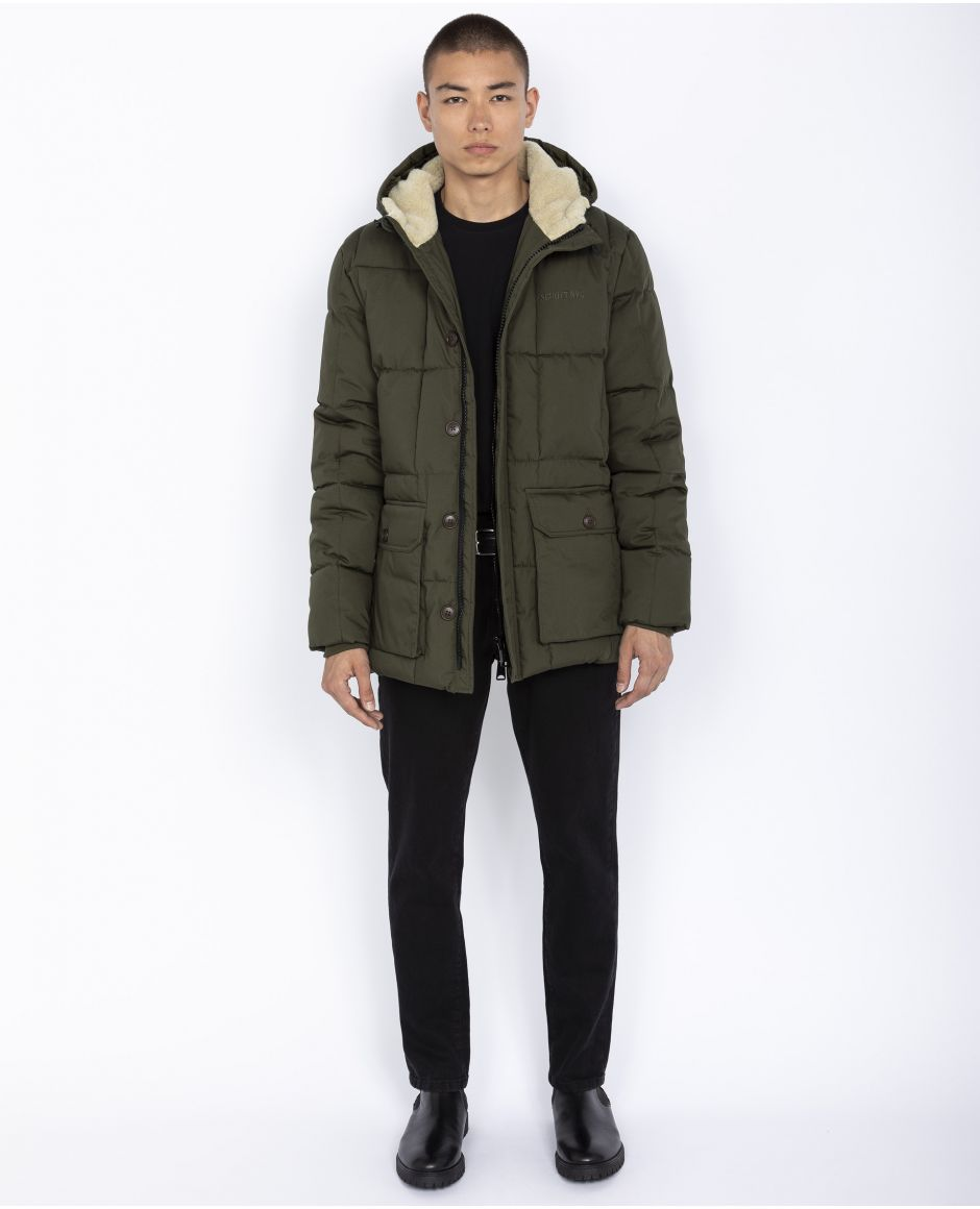 Quilted outdoor parka