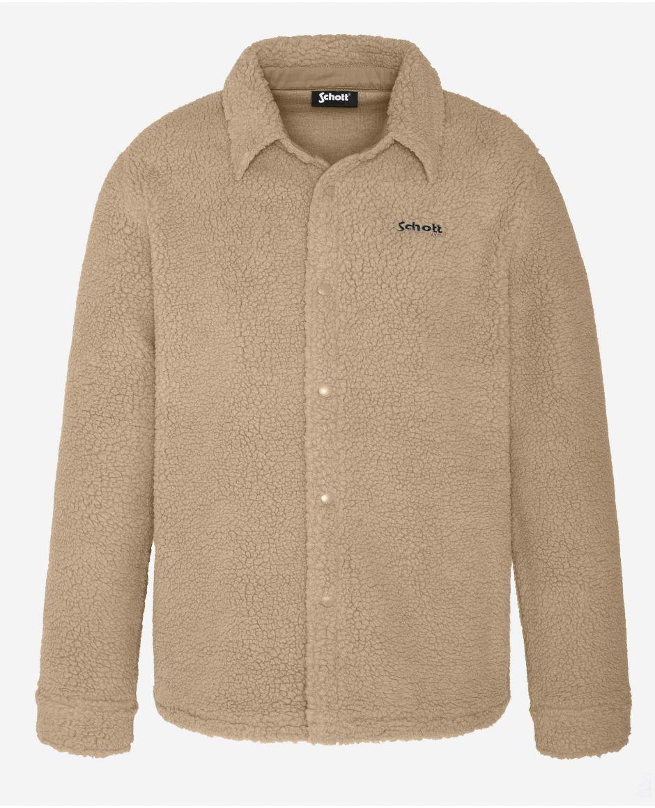 Sherpa fleece overshirt