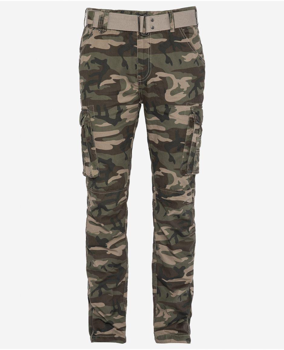 Pantalon cargo slim multipoches