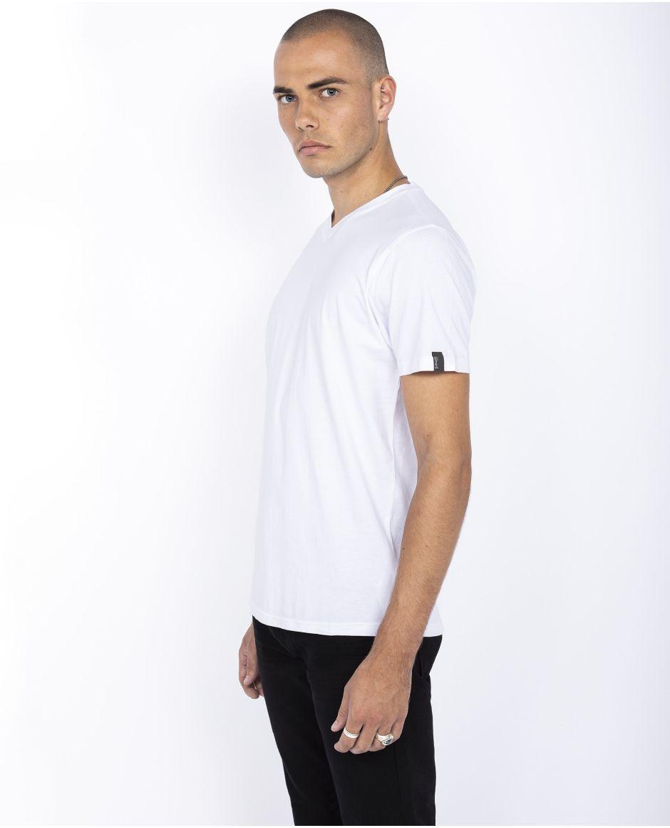 Pack de 2 t-shirts unis col V