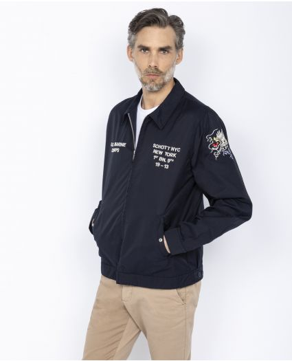 Embroidered army jacket