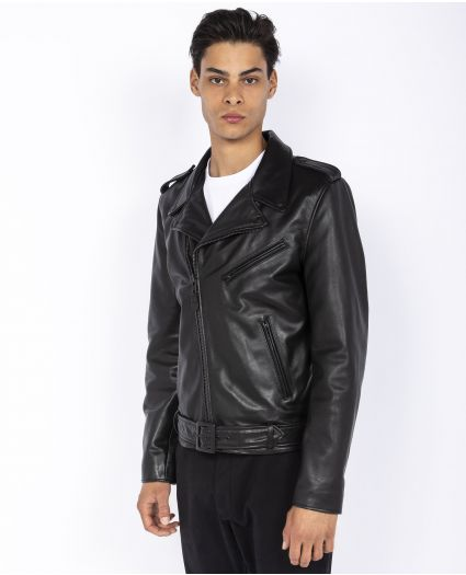 Blouson Perfecto® «full black» avec ceinture