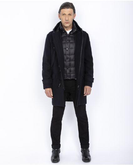 Duffle-coat à plastron amovible