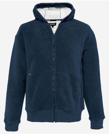 Sweatshirt polaire zippé à capuche