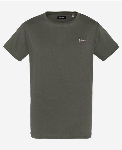 T-shirt brodé, col rond